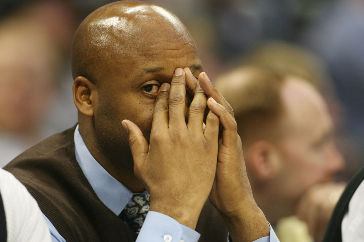 Brian Shaw seems less than excited by whatever he's seeing in Game 82