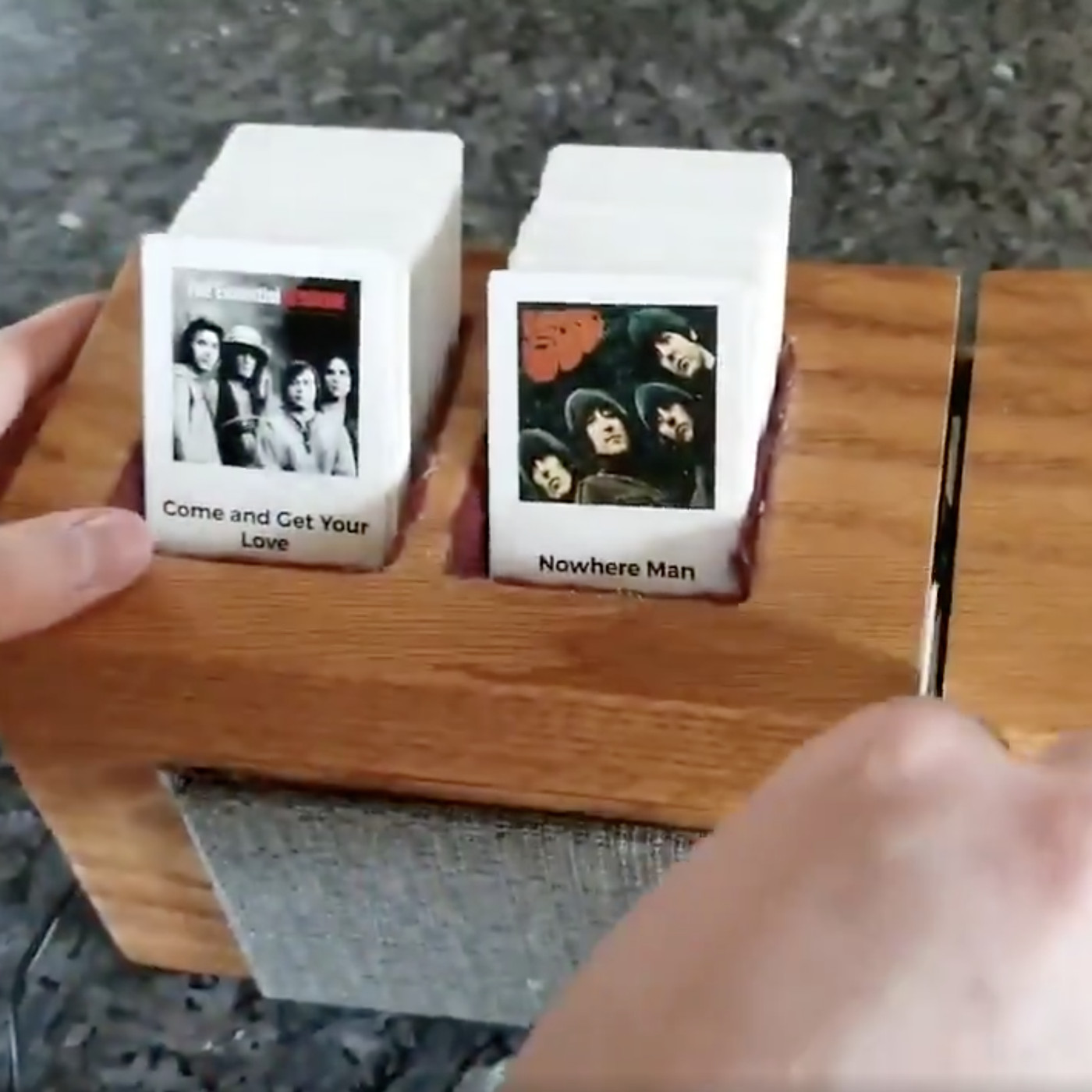 This awesome homemade jukebox is controlled by swipeable