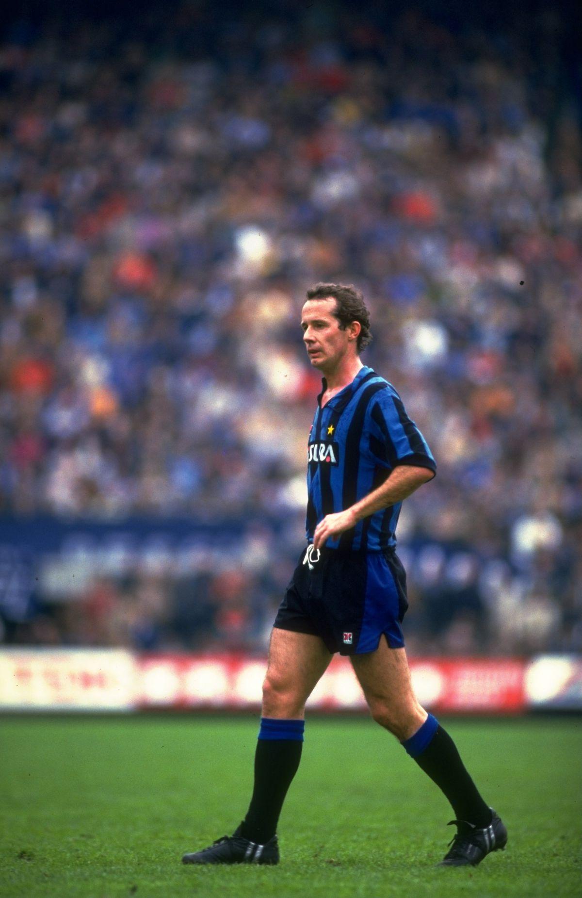 Liam Brady of Inter Milan