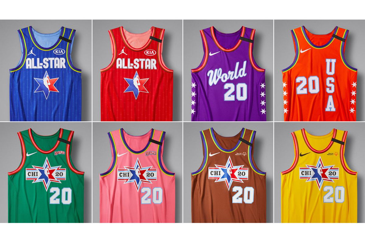 Colorful Christmas In Chicago 2020 NBA All Star 2020: The 8 different jerseys colors you'll see in
