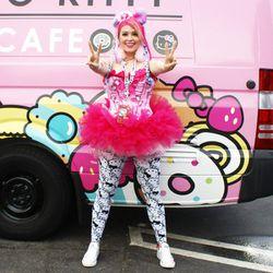 "Attendee <a href=""http://instagram.com/misskristenkelly"">Kristen Kelly</a> shows off her Hello Kitty devotion."