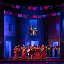 The cast of American Mariachi by José Cruz González, directed by Henry Godinez at Goodman Theatre, Sept. 18-Oct. 24.