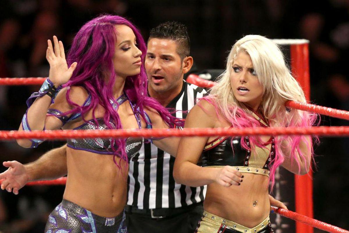 Sasha Banks and Raw Women's Champion Alexa Bliss