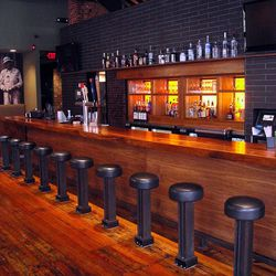 Downstairs bar.