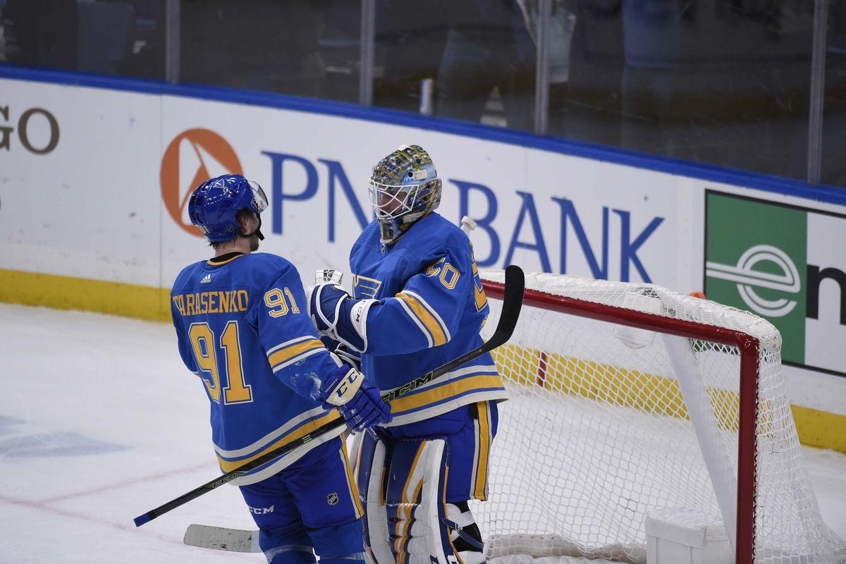 Binnington, Tarasenko given NHL honors for February St