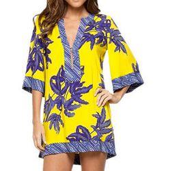 "<b>Vix Swimwear</b> Helen Tunic, <a href=""http://www.everythingbutwater.com/swimwear/browse/products/vix-swimwear/st-barths/52843+357-407-025+540.html"">$154</a> at Everything But Water"