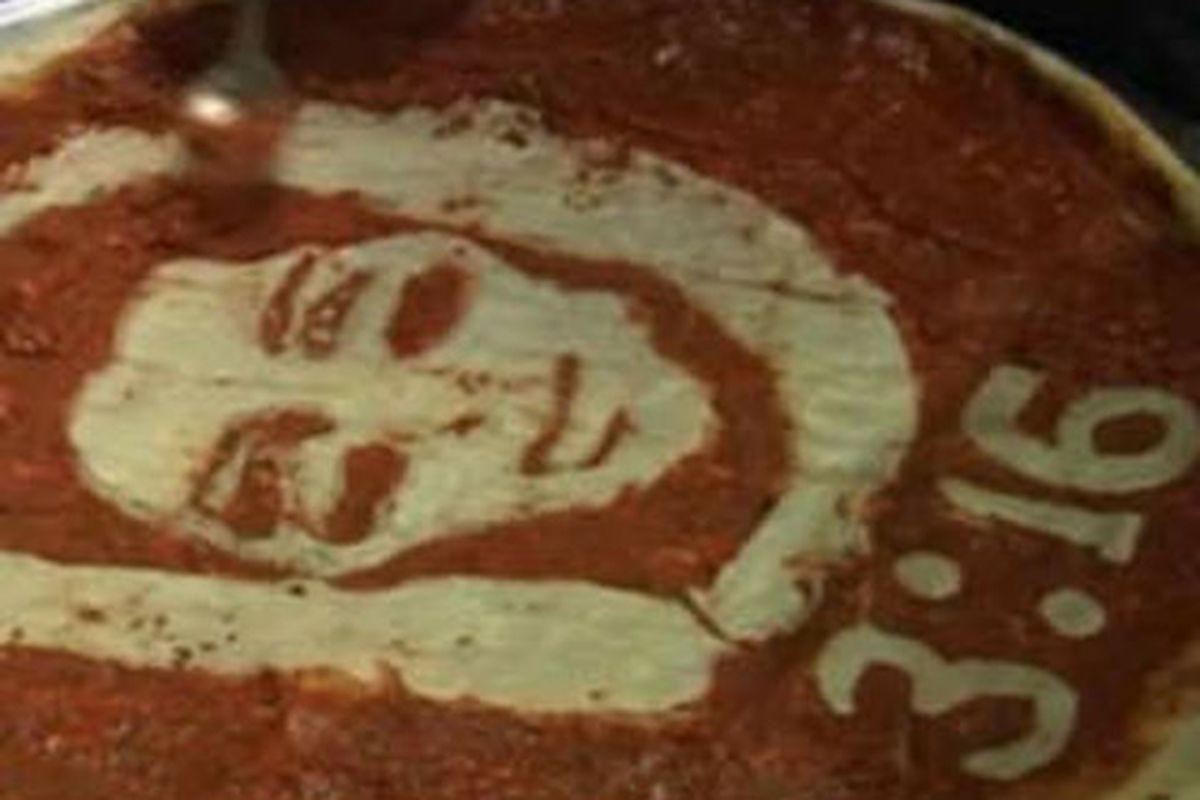Tebow Pizza Art