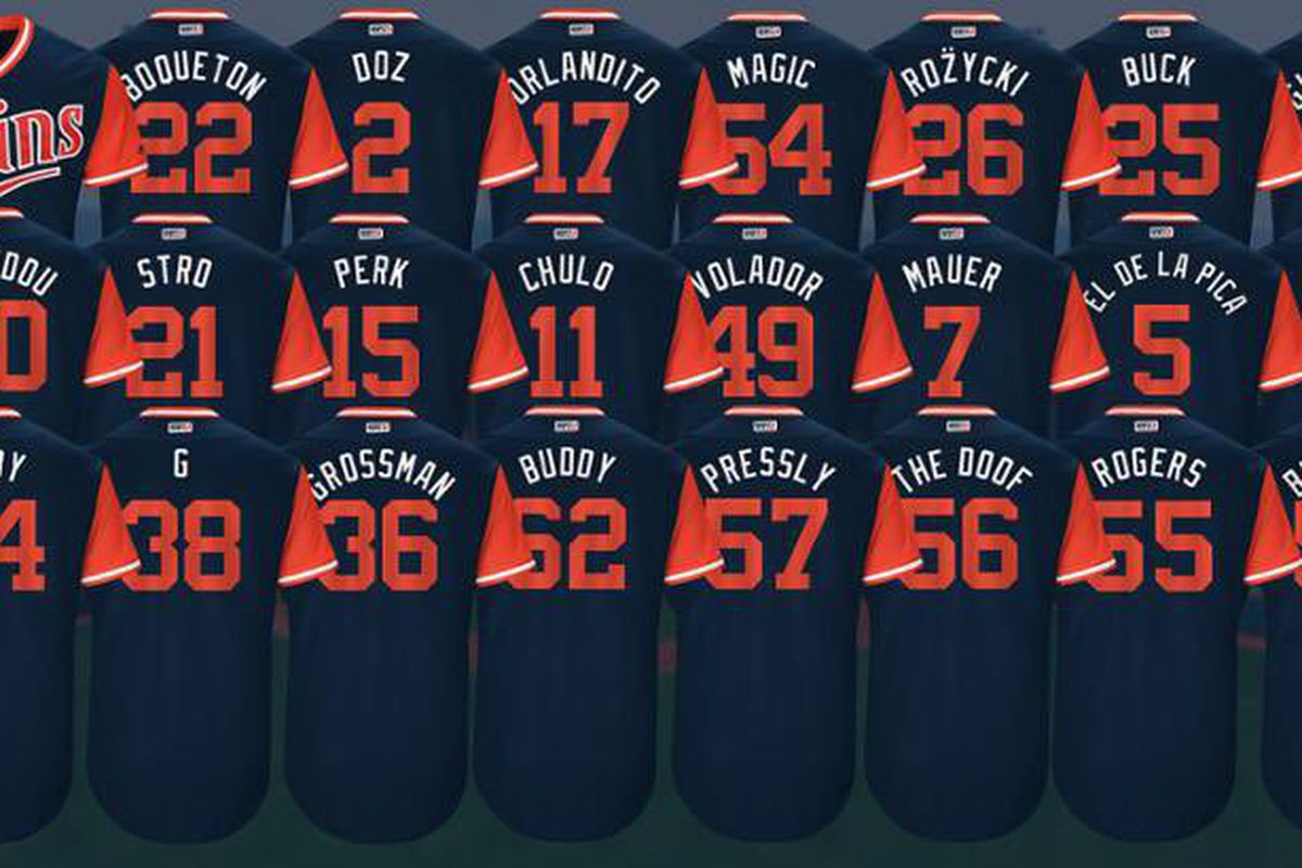 468ae920c86 Twins Players Weekend jerseys unveiled - Twinkie Town