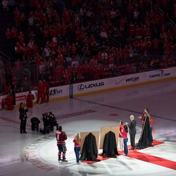 Ovehckin and Backstrom Honored