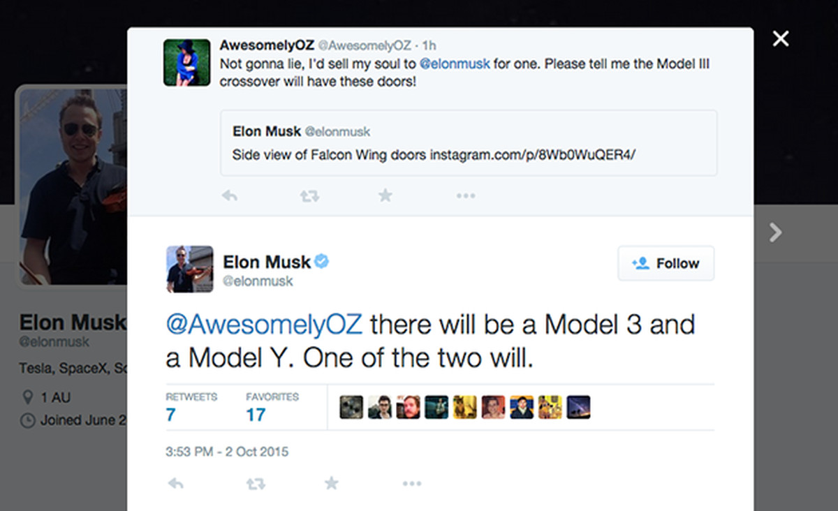 Tesla Twitter: Elon Musk Just Teased The Model Y In A Tweet (which He