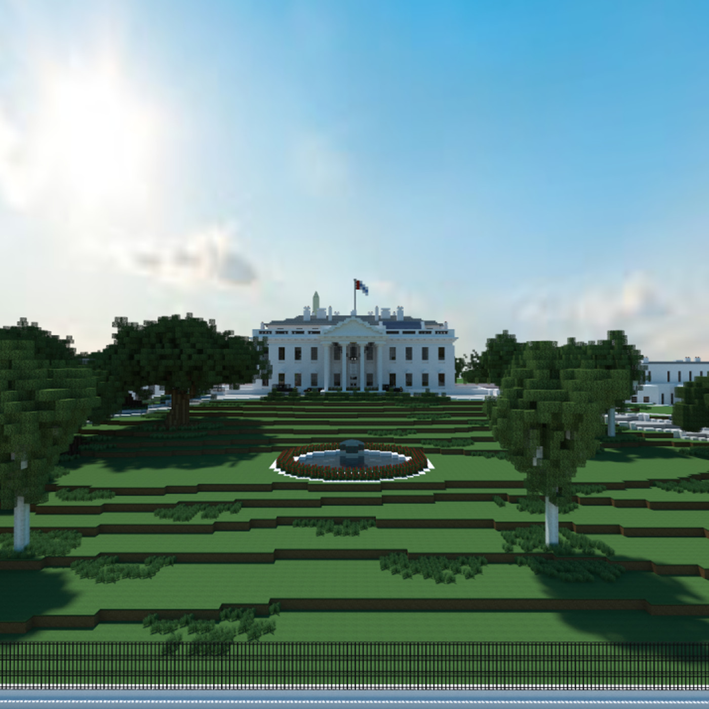 Finally Someone Is Building A Model Of D C In Minecraft Curbed Dc