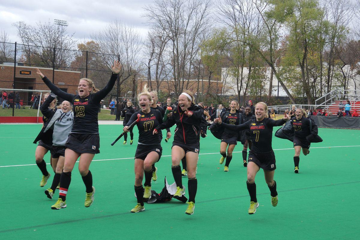 Field hockey celebrates first Maryland B1G Championship