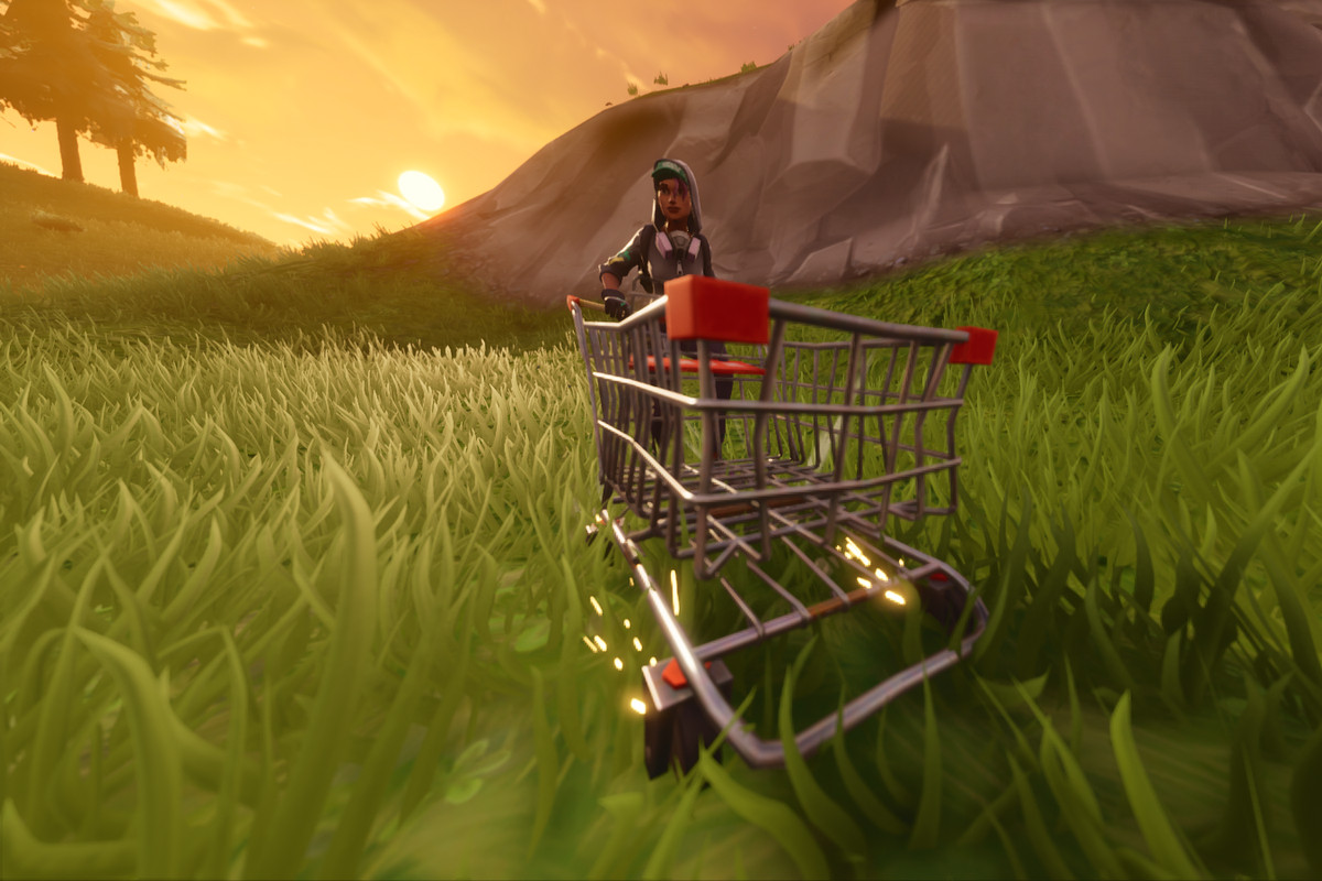 A shot of the shopping cart in Fortnite