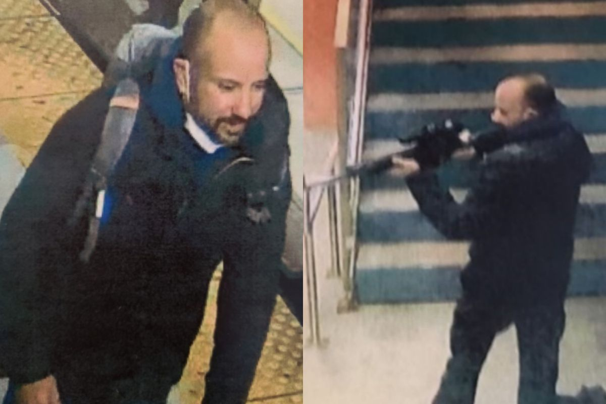 The FBI says this man is wanted for firing a rifle Dec. 1 on a Metra train platform at McCormick Place.