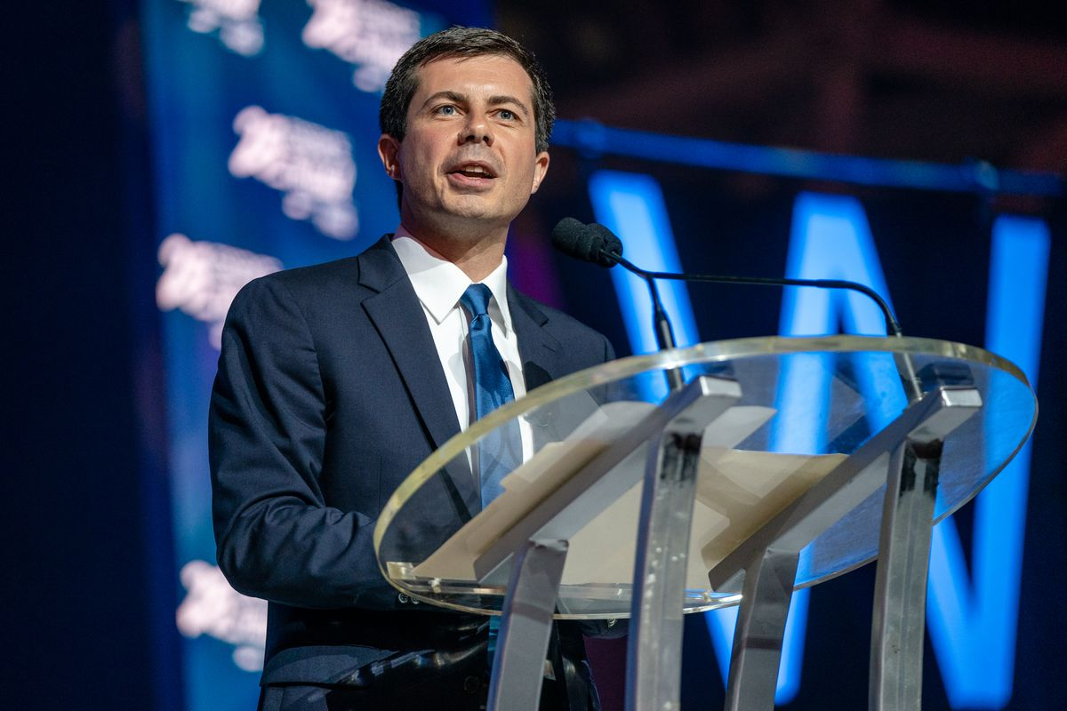 Democratic presidential candidate and South Bend, Indiana Mayor Pete Buttigieg speaks at the Essence Festival in New Orleans, Louisiana, on July 7, 2019.