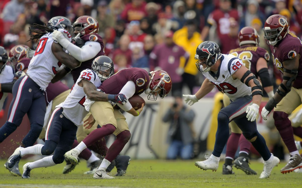Washington Redskins and the Houston Texans