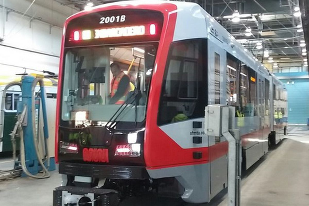new muni trains are here at last curbed sf. Black Bedroom Furniture Sets. Home Design Ideas