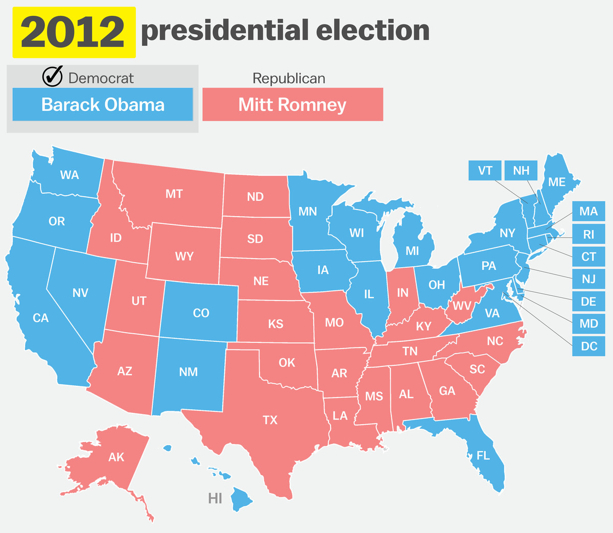 Image of: How Your State Voted In 2016 Compared To 15 Prior Elections Vox