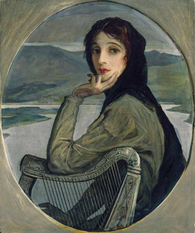 Hazel Lavery, in one of hundreds of paintings of her by her husband John Lavery.