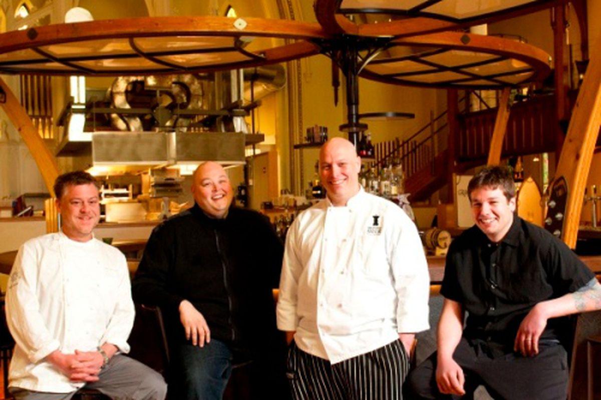 From left: Mitch Gerow, Jason Loring, Jeff Landry, Peter Sueltenfuss