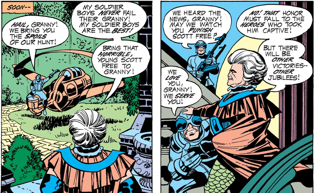 Granny Goodness and Parademons in Mr. Miracle, DC Comics
