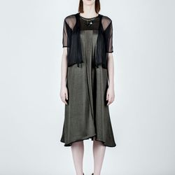 "Chiffon <a href=""http://shop.sheilafrank.net/product/elizabeth-top"">Elizabeth Top</a>, $78; <a href=""http://shop.sheilafrank.net/product/jessica-dress"">Jessica Dress</a>, $95"