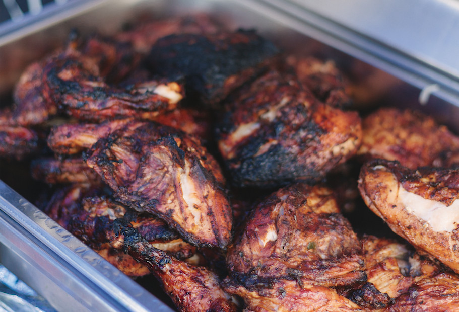 London's best Caribbean street food jerk: George's First Jerk Catering at Surrey Street Market in Croydon