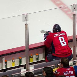 Ovechkin At End of Bench