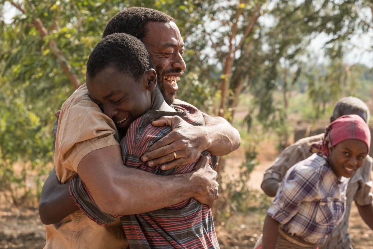 Chiwetel Ejiofor and Maxwell Simba in The Boy Who Harnessed the Wind.