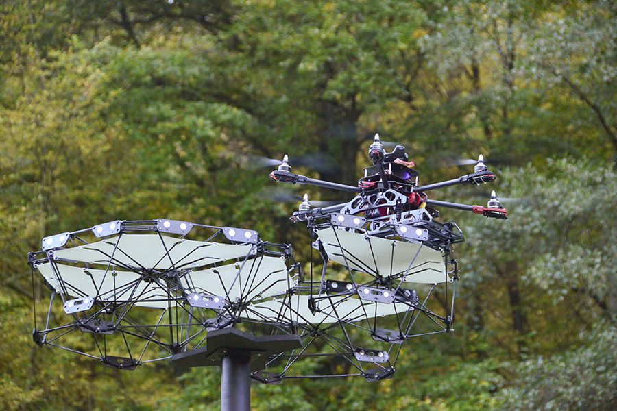 Drone carrying canopy module