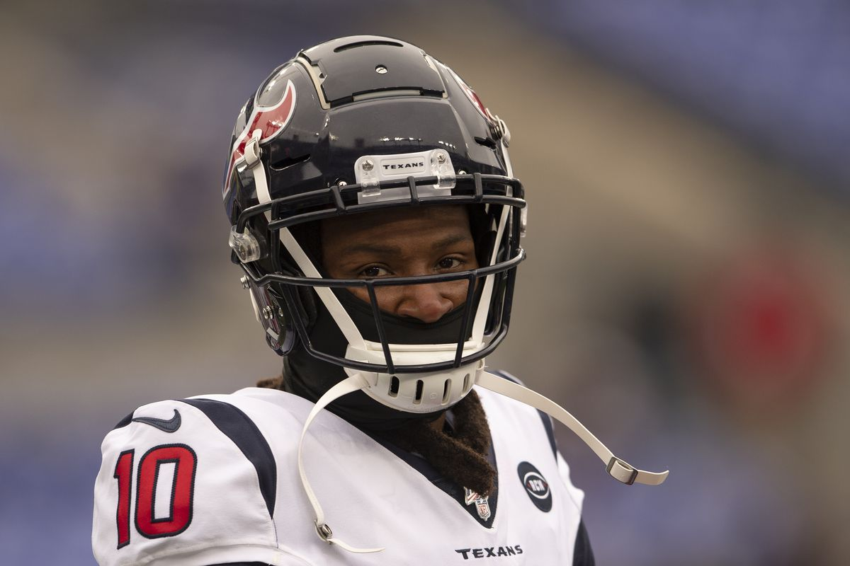 Houston Texans wide receiver DeAndre Hopkins before the game against the Baltimore Ravens at M&T Bank Stadium.