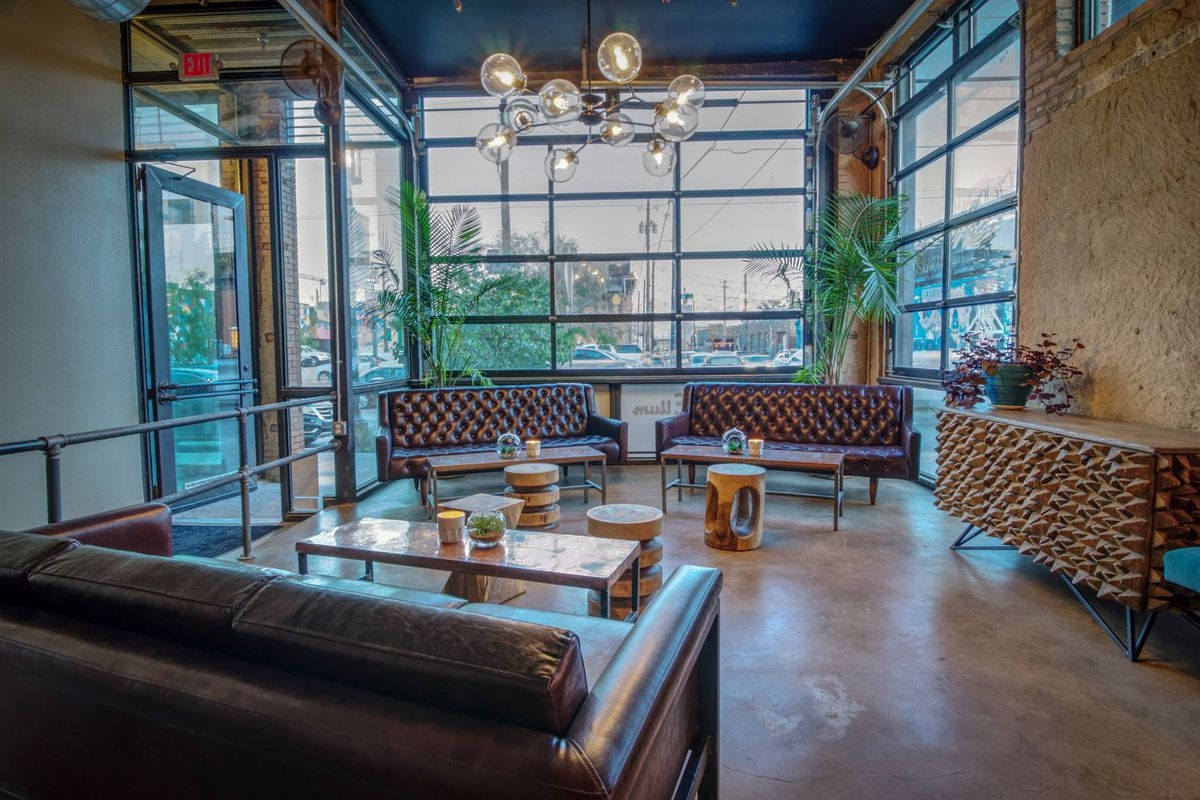 Izkina Dallas lounge space with couches