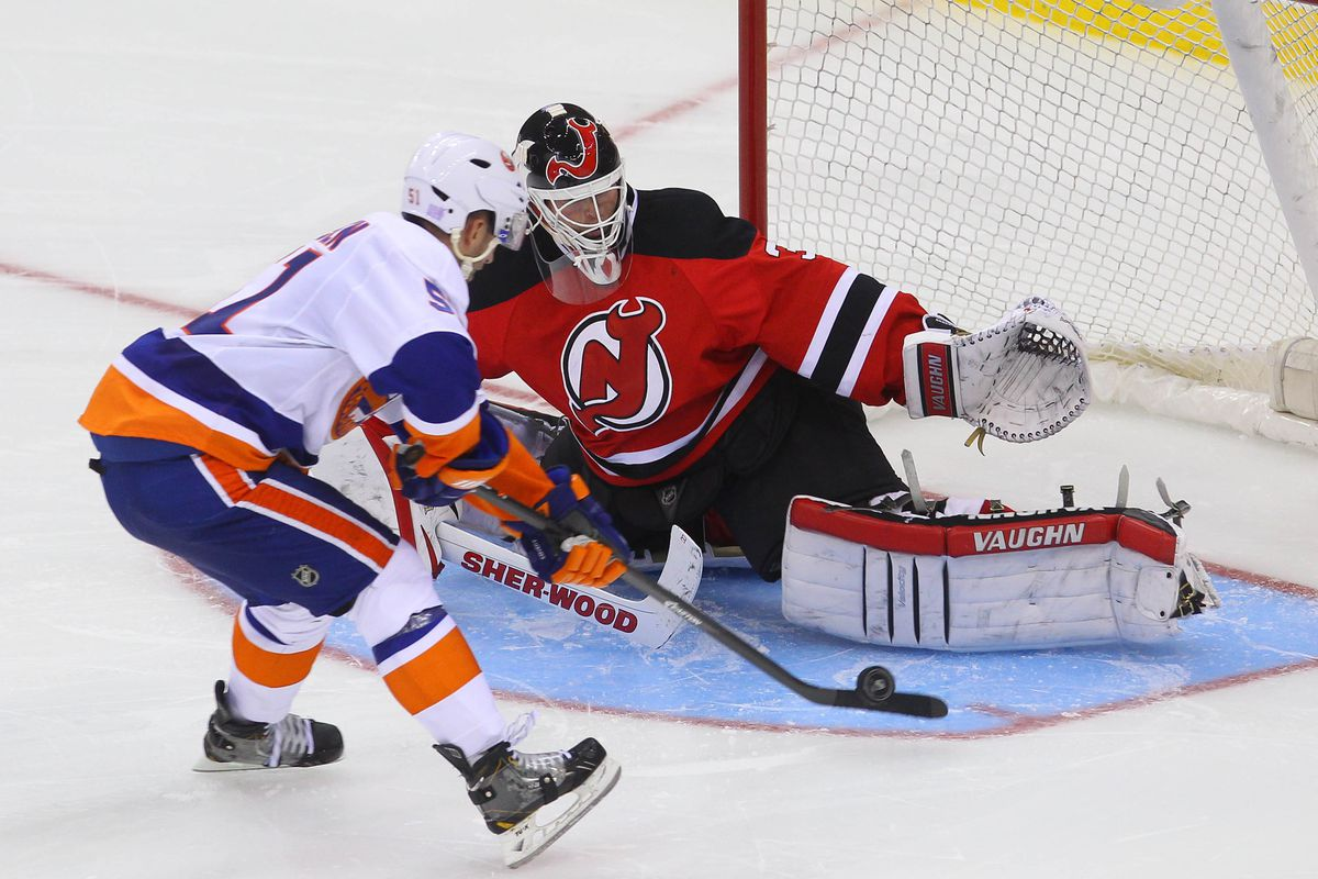 Brodeur will not make this save tonight; he's not playing. Schneider is.
