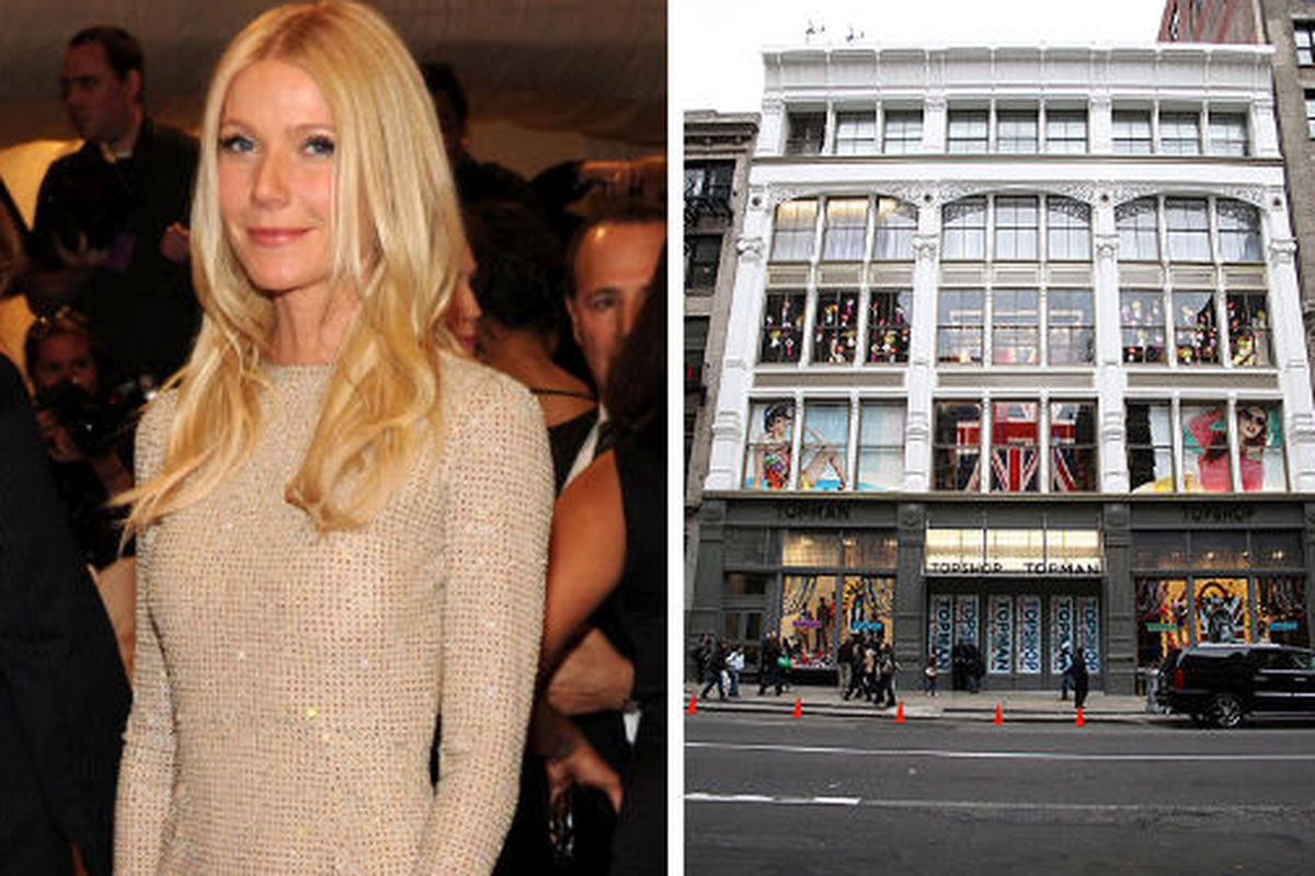 """Gwyneth Paltrow image via <a href=""""http://gettyimages.com"""">Getty Images</a>, Topshop image via <a href=""""http://www.thesun.co.uk/sol/homepage/woman/fashion/2357734/Kate-Moss-launches-Topshop-in-New-York-with-A-list-party.html"""">The Sun UK</a>"""
