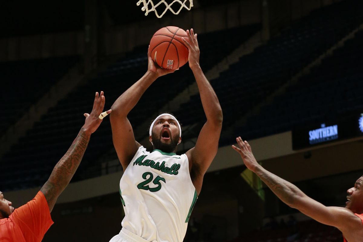 Marshall's Ryan Taylor (25) glides to the basket in the Herd's win over UTEP in the CUSA quarterfinals.
