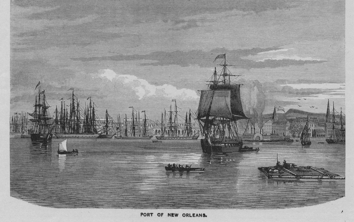 The Port of New Orleans, circa 1800
