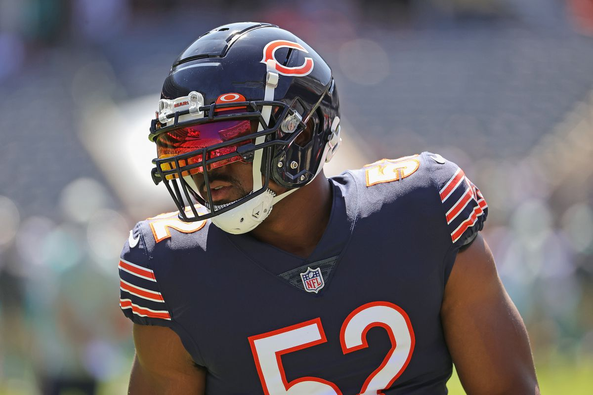 Khalil Mack had 12.5 sacks for the Bears in 2018, but just 8.5 in 2019 and nine last season.