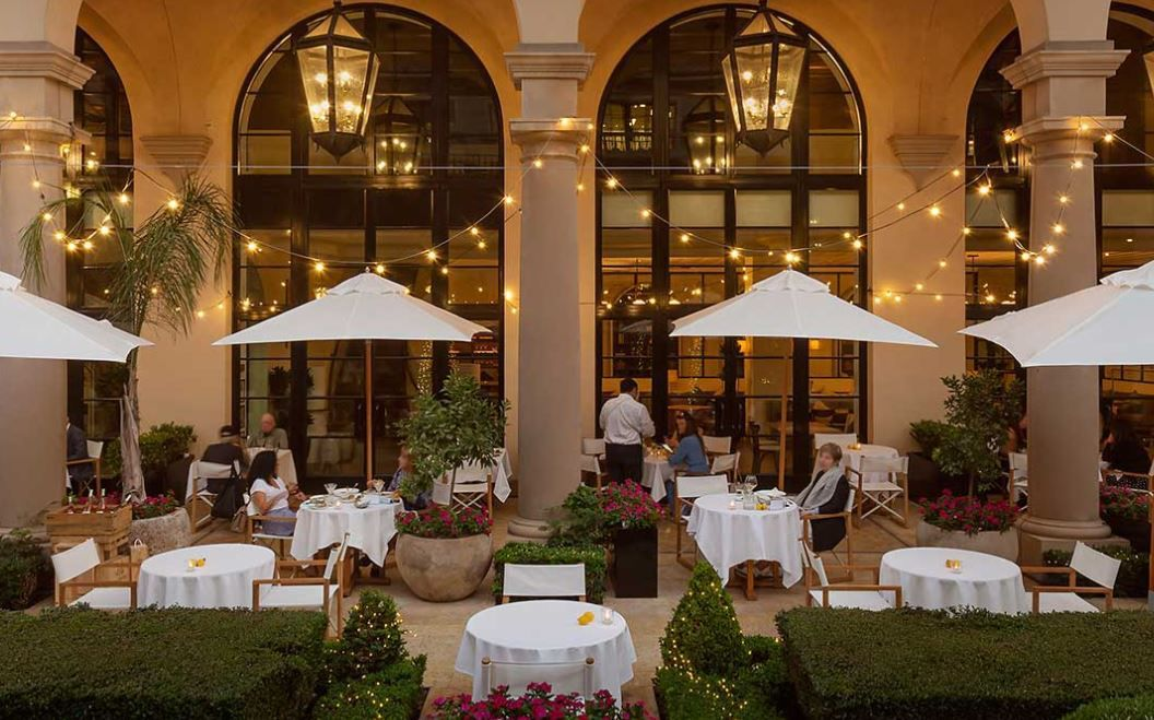 Terrace at Maybourne Hotel, Beverly Hills.
