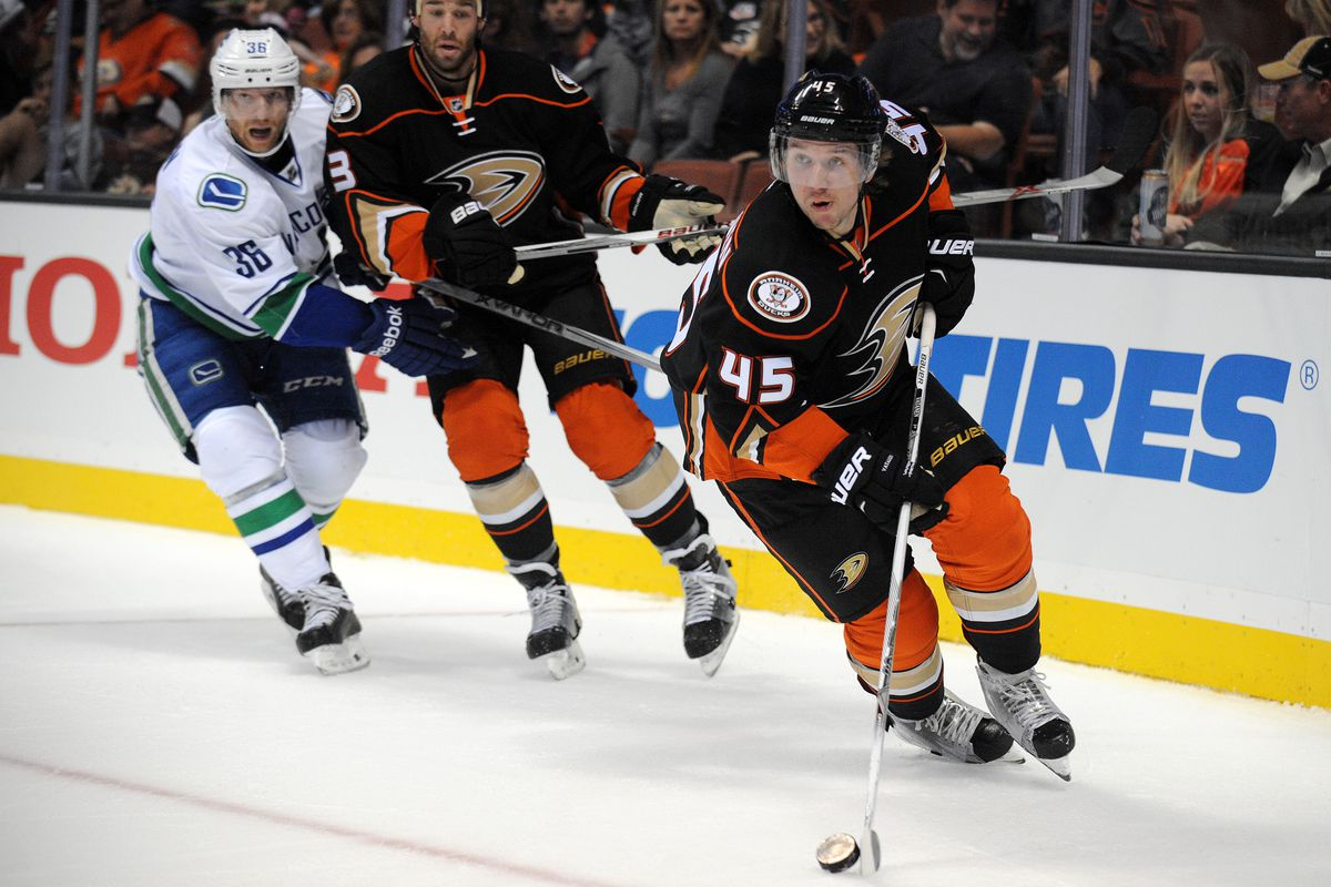 Sami Vatanen scored the Ducks lone goal in their ninth ever home opener loss.