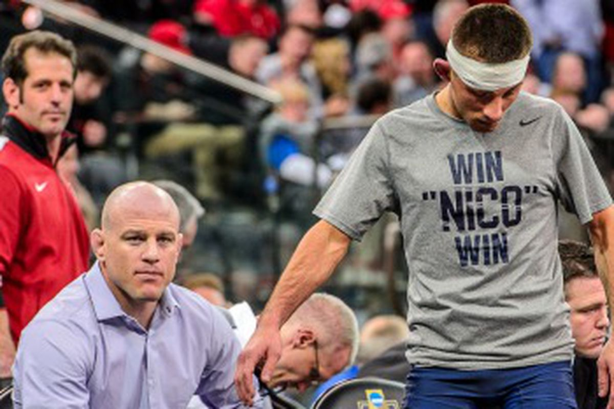 Cael, Nico, and Cody before the NCAA semifinals