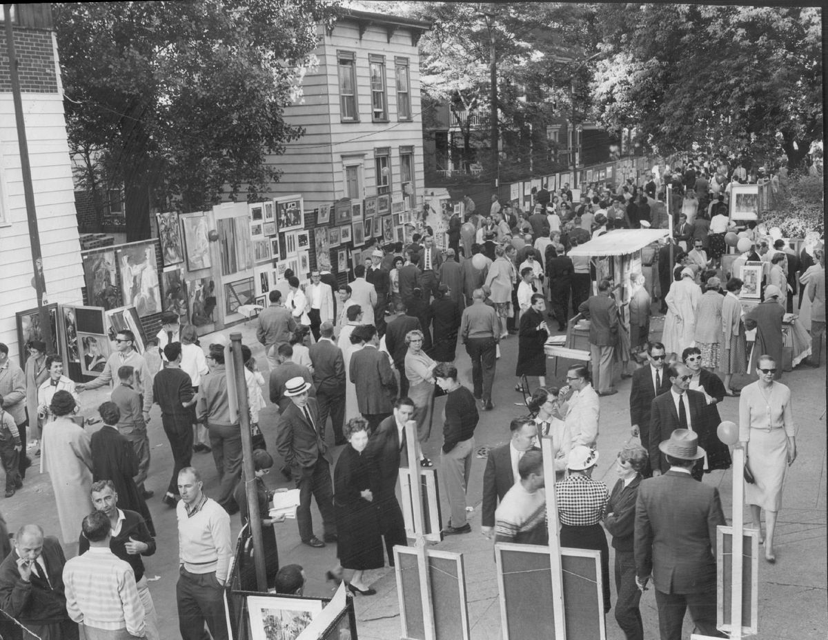 The Old Town Art Fair has been drawing big crowds for more 70 years. This photo is from 1959. | Sun-Times Archives