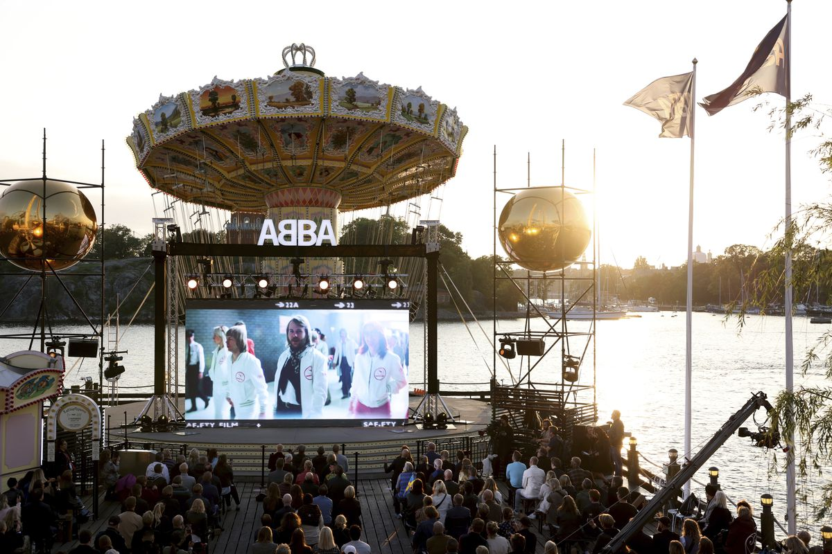 People attend the ABBA Voyage event earlier this month at Grona Lund, in Stockholm, Sweden.