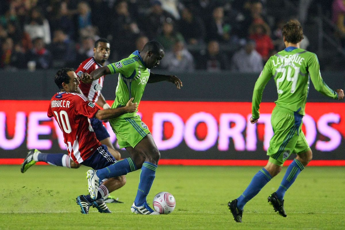 CARSON, CA - OCTOBER 22:  Chivas and Sounders (reserves) are scheduled to meet twice this season in the reserve league. (Photo by Victor Decolongon/Getty Images)