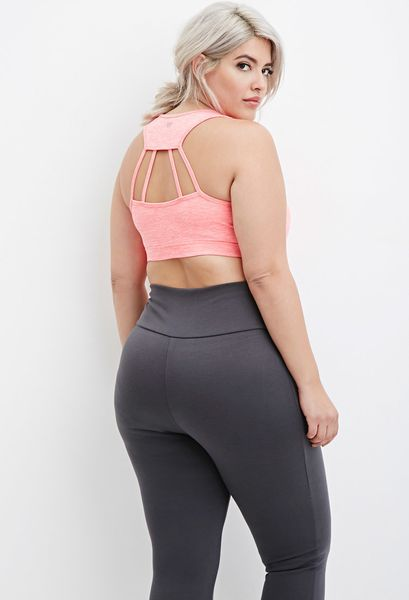 Forever 21 launches a plus size activewear line racked sports bra 1490 sciox Images