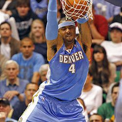 Denver's Kenyon Martin as the Utah Jazz and the Denver Nuggets play.