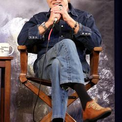 Robert Redford speaks at the opening press conference for the Sundance Film Festival at the Egyptian Theatre in Park City on Thursday, Jan. 22, 2015.