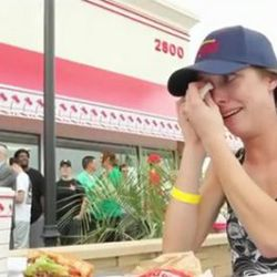 """<a href=""""http://eater.com/archives/2011/05/11/innouts-texas-opening-brings-woman-to-tears.php"""" rel=""""nofollow"""">In-N-Out's Texas Opening Brings Woman to Tears</a><br />"""