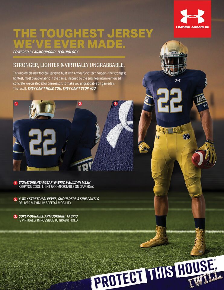 new concept 42384 fe3f7 New Notre Dame and Auburn uniforms do impossible things ...