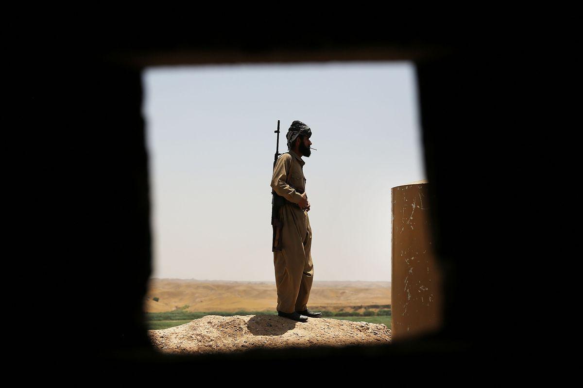 A Kurdish soldier.