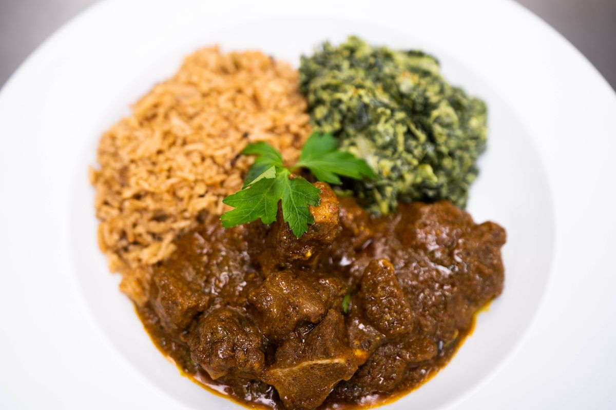 Stewed goat from Swahili Village